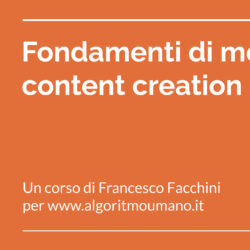 Corso di mobile content creation