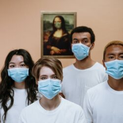 Coronavirus health workers wearing face mask
