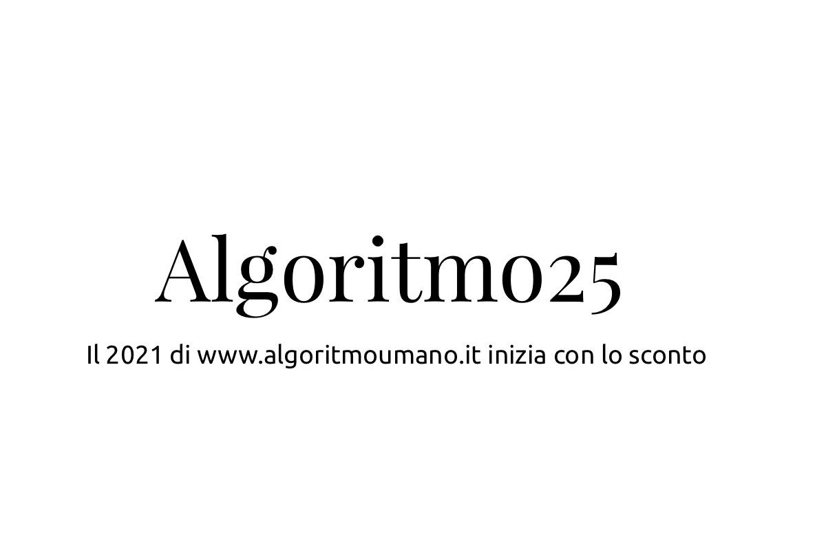 Il 2021 con algoritmo umano